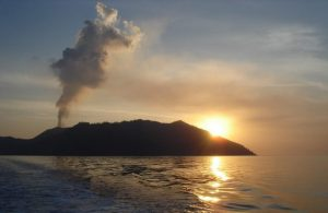 Live Volcano in Andaman Islands-Only one active in India