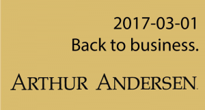 Big 5-Arthur Anderson is Alive-after 16 yrs