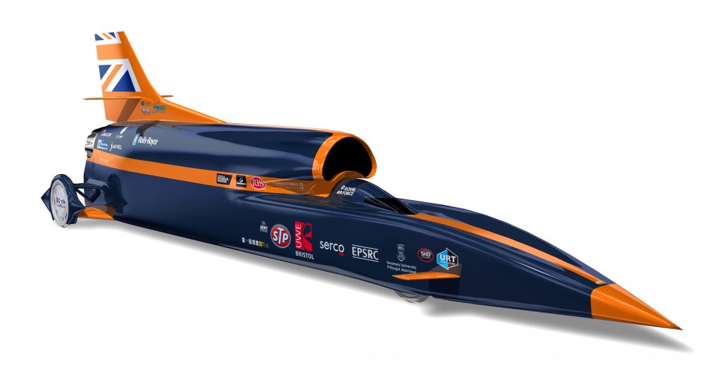 Faster than sound car-Bloodhound SSC launching