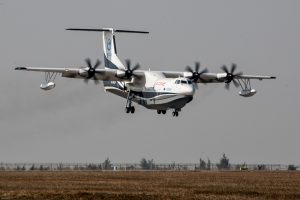 World's largest amphibious aircraft-maiden flight takes off